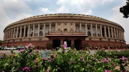 Trinamool MPs protest in Parliament against linking Aadhaar with bankaccounts
