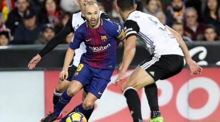Barcelona's Andres Iniesta out with calf injury against Villarreal