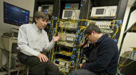 High speed internet, broadband connectivity, University of Texas at Arlington, telecom carriers, University of Vermont, nonlinear-optical effects, all-optical regeneration, light propogation, photo detectors