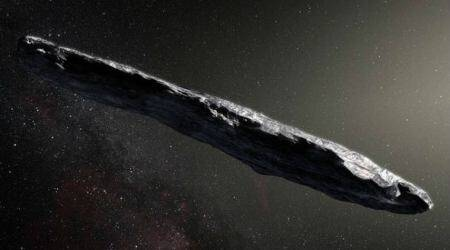 Oumuamua asteroid, cigar-shaped asteroid, solar system planets, Queen's University Belfast, icy material, organic layers, cosmic rays, carbon-rich ices, interstellar objects, comet-like interior