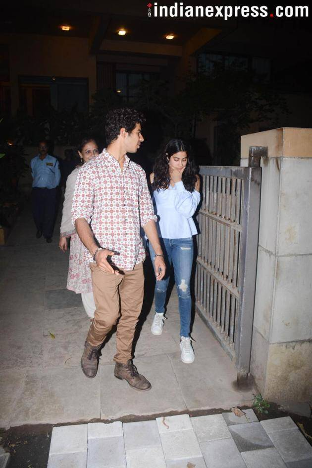 Janhvi Kapoor and Ishaan Khatter were also spotted in each other's company.