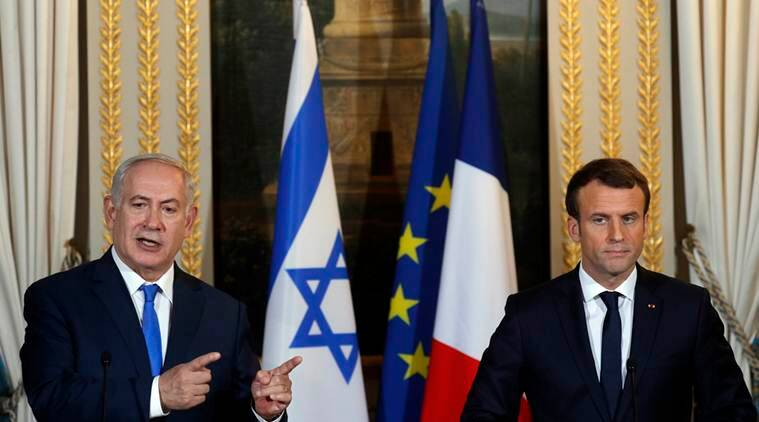 Israel S Netanyahu Visits Emmanuel Macron To Talk Iran Deal World News The Indian Express