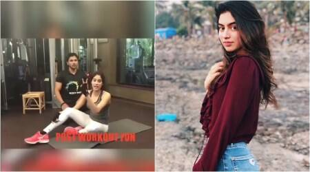 jahnvi kapoor, jahnvi kapoor latest, jahnvi kapoor fitness, jahnvi kapoor gym, jahnvi kapoor gym videos, jahnvi kapoor latest gym videos, jahnvi kapoor gymfitness videos, indian express, indian express news