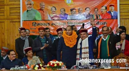 jairam thakur photos, himachal new cm images, who is jairam thakur, bjp himachal pradesh, jairam thakur pics, new himachal cm pictures, indian express