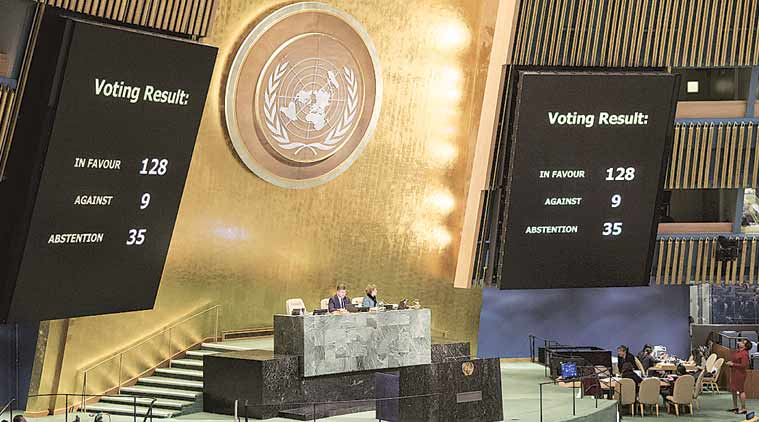 United Nations general assembly opens meeting on Jerusalem