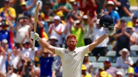 Ashes 2017: Jonny Bairstow 'headbutts' helmet after scoring century, watch video