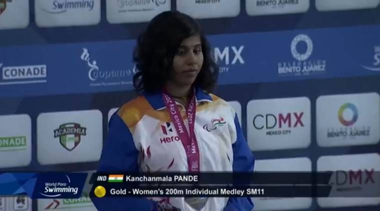 Kanchanmala Pande wins gold at World Para Swimming Championships