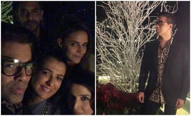 inside photos from Karan Johar Christmas bash