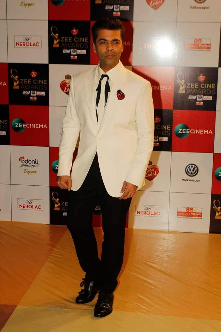 karan johar at zee cine awards 2018
