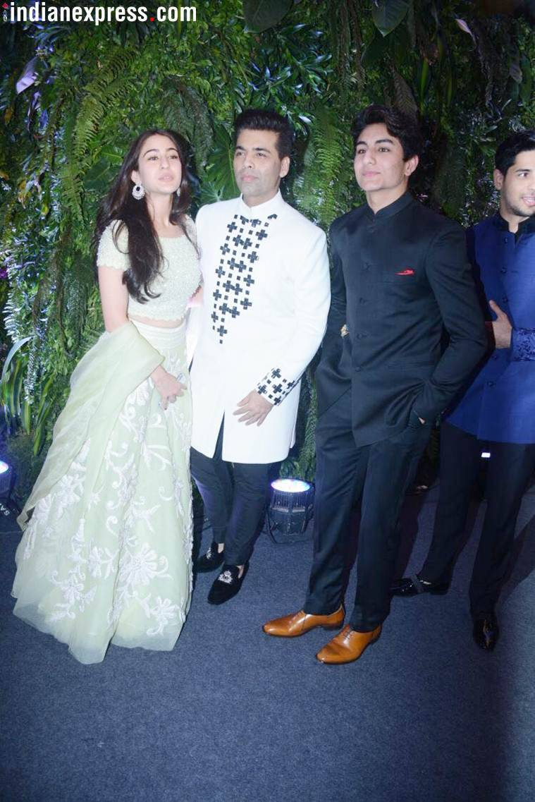 Sara Ali Khan with Karan Johar and brother Ibrahim Khan