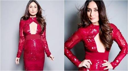 Kareena Kapoor Khan owned the colour red in this Bibhu Mohapatra bodycon dress