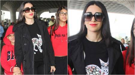 Heads up cat lovers, Karisma Kapoor has just THE sweater for you