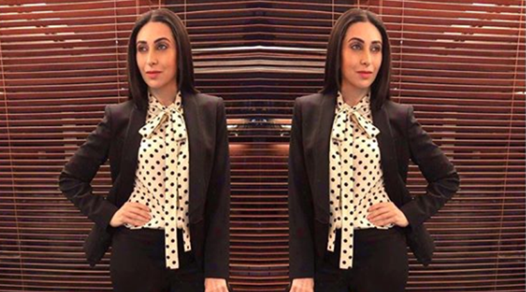 Karisma Kapoor in polka dots at Ambani bash.