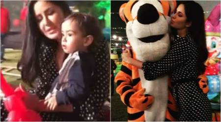 Katrina Kaif ditched Salman Khan and became his nephew Ahil's date. Watch adorable video