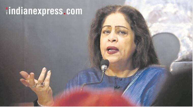 kirron kher, kirron kher rape comment, chandigarh gangrape, rape victim auto rickshaw, three men, kirron kher in chandigarh, indian express