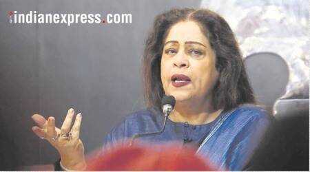 kirron kher parking, chandigarh mp kirron kher, kirron kher parking, chandigarh news, chandigarh parking, indian express