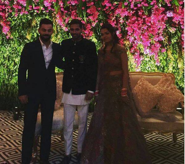 Virat Kohli at Bhuvneshwar wedding reception