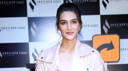 Kriti Sanon's bubblegum pink moto jacket is a beautiful take on sporty-chic style