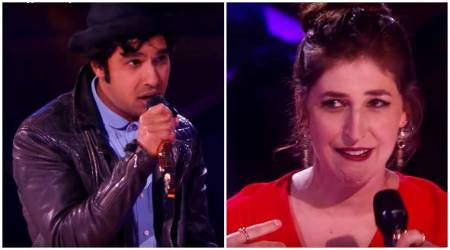VIDEO: Big Bang Theory's Kunal Nayyar and Mayim Bialik ROAST in this rap-battle is SAVAGE!