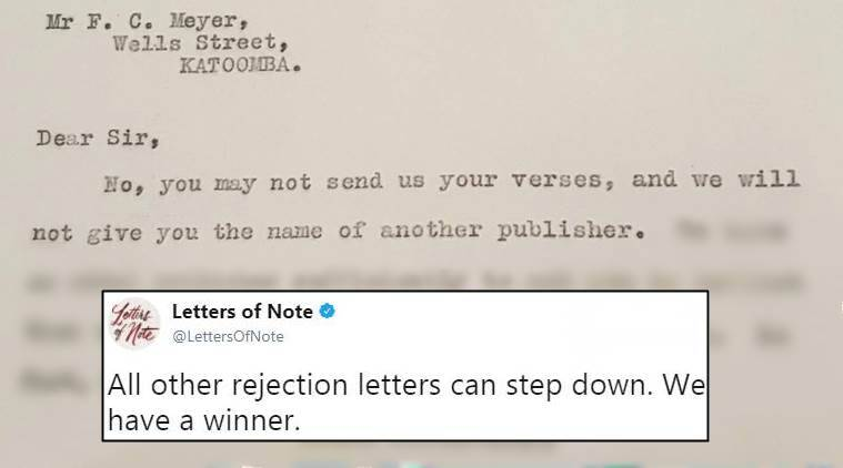 This viral rejection letter from 1928 is delightfully savage the rejection letters funny rejection letters savage rejection letters viral tweet indian express altavistaventures Images