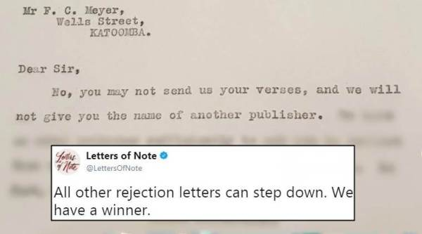 rejection letters, funny rejection letters, savage rejection letters, viral tweet, indian express, indian express news