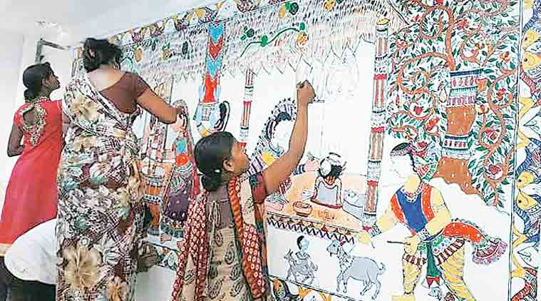Painting the town in Madhubani