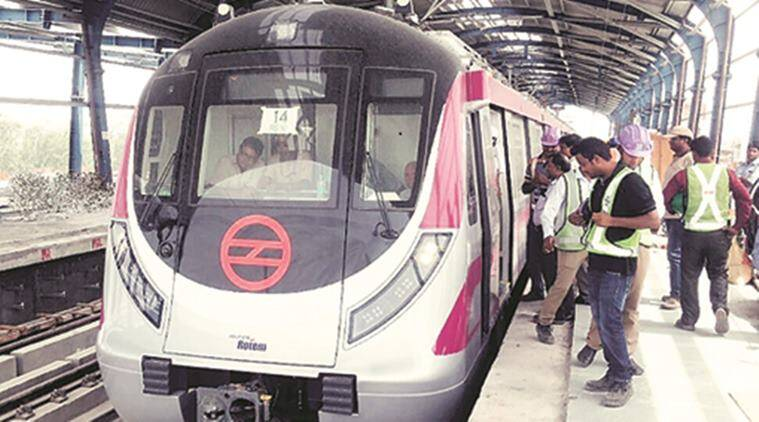 delhi metro, dmrc, pink line, majlis park, south campus, metro station, phase 3 inauguration, delhi metro latest news, indian express