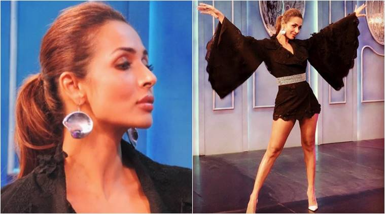 Malaika Arora flaunts bell sleeves in a mini at India's Next Top Model.