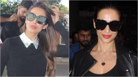 Malaika Arora gives us winter fashion tips with her airport looks