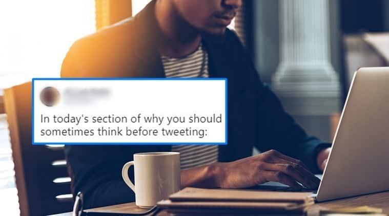 sexist tweet, tweet on female comedian, man tweets sexist comment, twitter reaction, Indian express, Indian express news