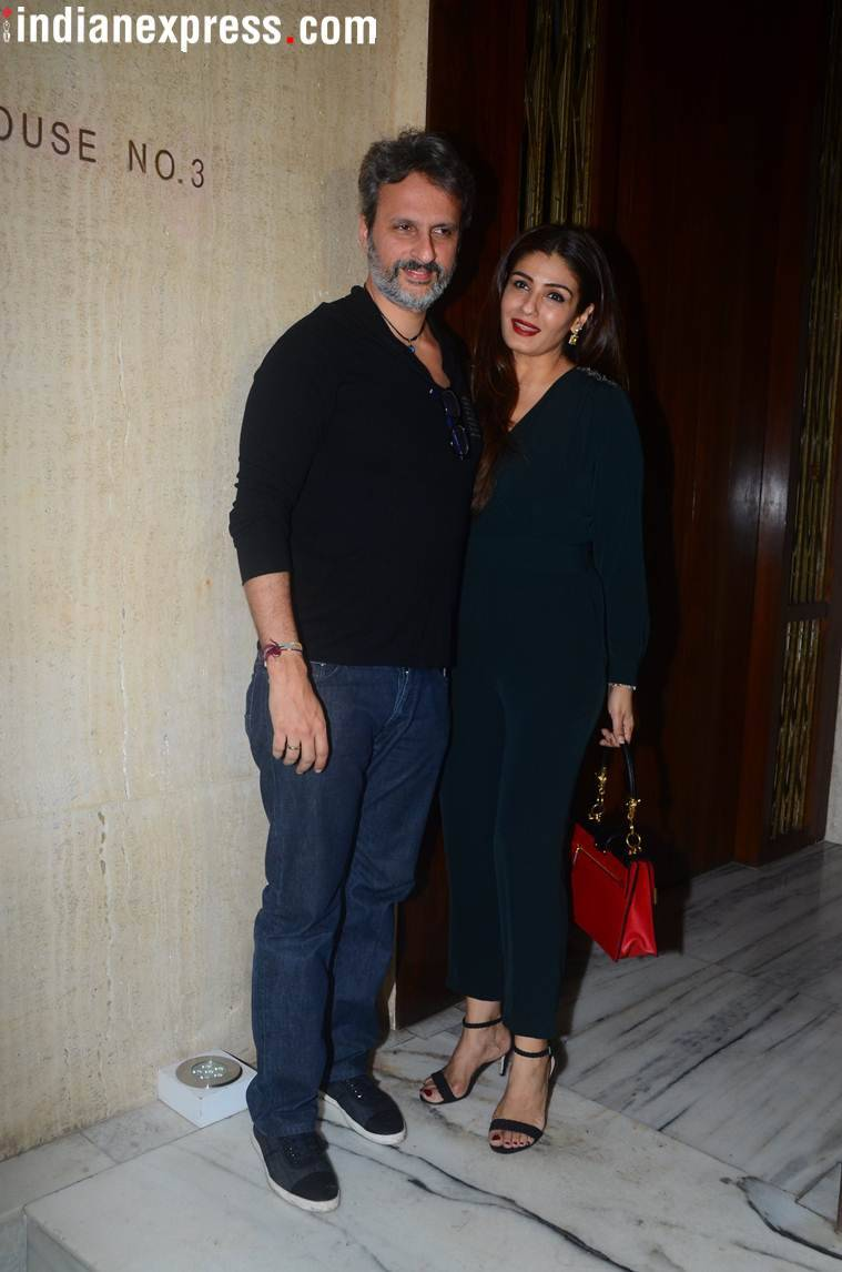 raveena tandon  manish malhotra birthday party