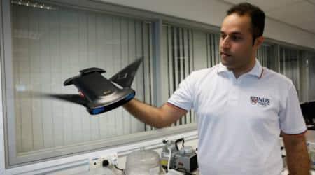 Manta ray, MantaDroid, National University of Singapore, bio-locomotion, PVC body, fin-like rudders, manta ray propulsion, biomimetics, US National Robotics Education Foundation, underwater mapping, ocean bed surveys