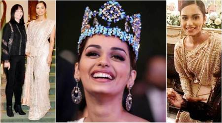 Manushi Chhillar has the most graceful way of wearing this Tarun Tahiliani sari