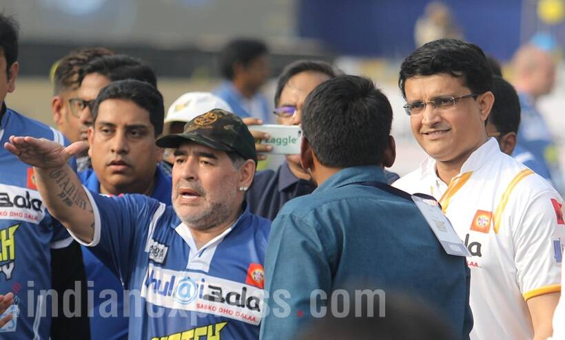 Maradona to play against Ganguly