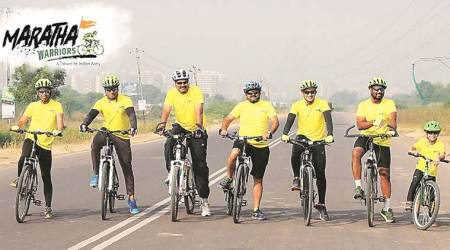 pune cyclists, pune to wagah border, pune news, indian express news