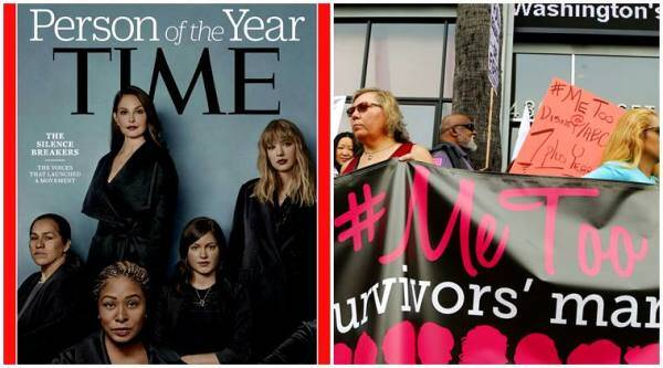 time person of the year, #metoo, metoo, the silence breakers, time POTY 2017, me too movement, me too hashtag, time magazine, time person of the year, indian express, indian express news