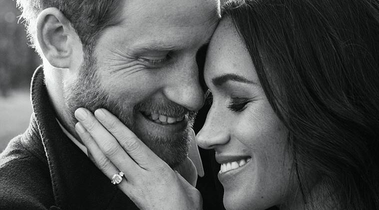 Prince Harry, Meghan Markle release engagement portraits