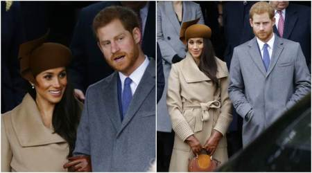 Meghan Markle walks arm-in-arm with Prince Harry at royal Christmas service