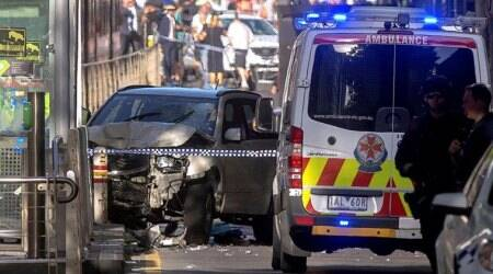 melbourne photos, australia attack photos, flinders street pics, car attack images, melbourne attacker picture, melbourne car attack images, pedestrians, world photos, car attack pics, indian express