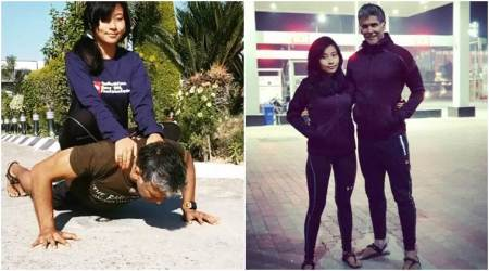 Milind Soman doing push-ups with girlfriend Ankita Konwar will give you major fitness goals; watch video