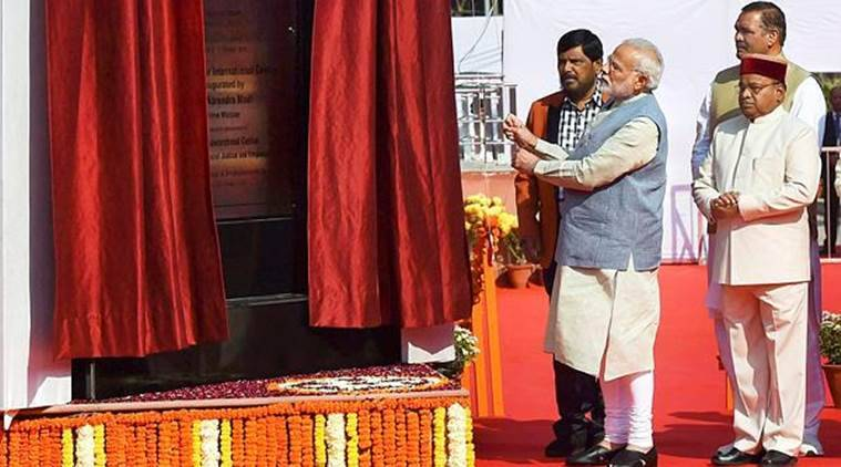 Modi opens Ambedkar International Centre