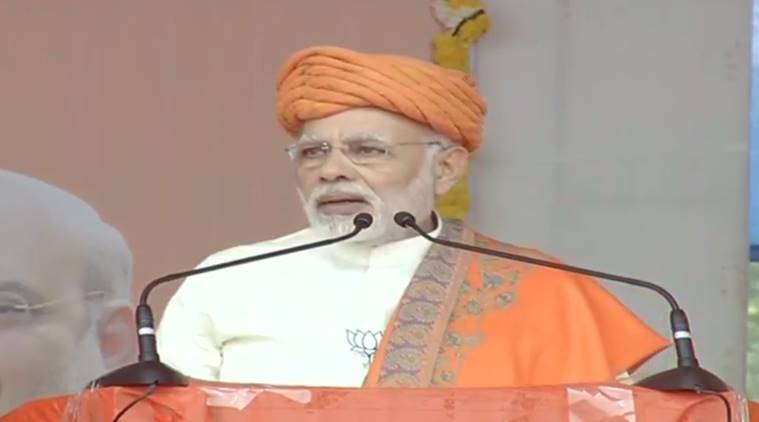 PM Modi addresses rally in Dhandhuka