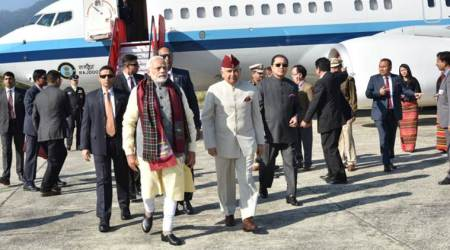 Modi in Northeast LIVE UPDATES: PM reaches Meghalaya to inaugurate the Shillong-Tura Road