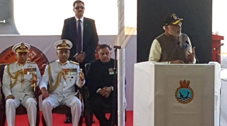 Modi commissions' INS Kalvari, a deadly, deep sea predator submarine