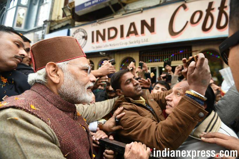 After two decades, PM Modi tastes favourite mall road coffee in Shimla