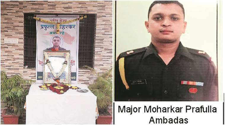 Major Prafulla Moharkar, Pakistan troop ceasefire violation, Indian army, soldiers killed, Indian Express