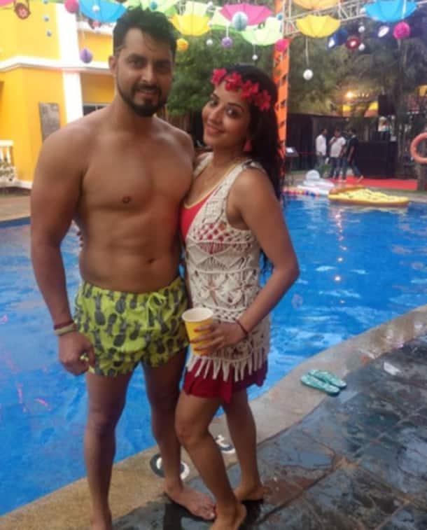 Bharti Singh Haarsh Limbachiyaa pool party photos