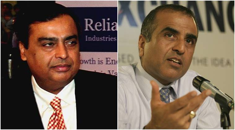 Ambani, Chairman and MD of Reliance Industries and sunil mittal