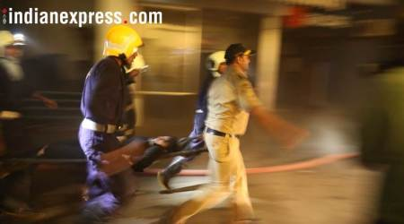 Kamala Mills fire, indian express, Kamala mills compound, maharashtra, media houses hit by mumbai fire, TV channels affected