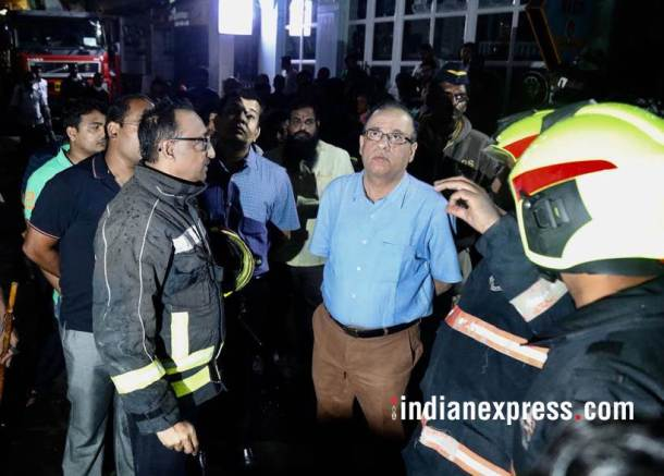 mumbai fire, mumbai fire photos, london taxi bar fire, mumbai bar fire images, lower parel fire pictures, mumbai taxi bar fire pics, mumbai fire latest pics, kamala hills fire photos, indian express